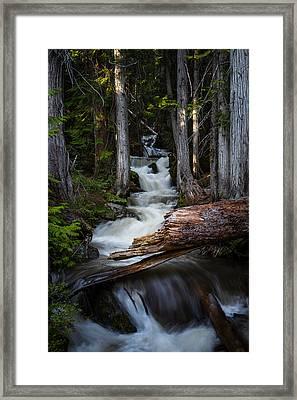 Silver Falls Framed Print