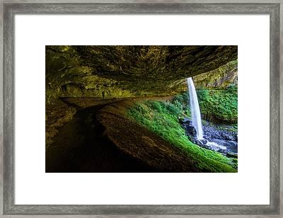 Silver Falls - North Falls Framed Print