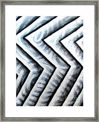Silver Glass Waves Study 1  Framed Print