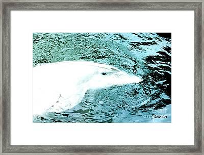 Gliding Through Silver Framed Print
