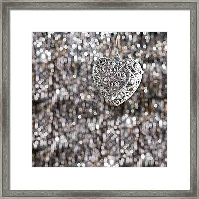 Framed Print featuring the photograph Silver Heart by Ulrich Schade