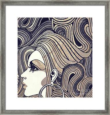 Silver Hoop Girl Framed Print by Mindy Sommers