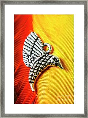 Silver Hummingbird Framed Print