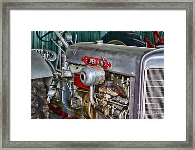 Silver King Tractor Framed Print