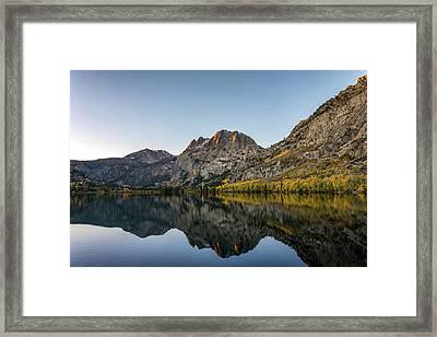 Silver Lake At Sunrise Framed Print by K Pegg