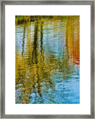 Silver Lake Autum Tree Reflections Framed Print