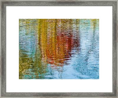 Silver Lake Autumn Reflections Framed Print