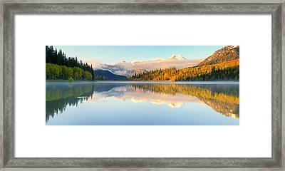 Silver Lake Panorama Framed Print