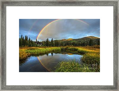 Silver Lake Rainbow Framed Print