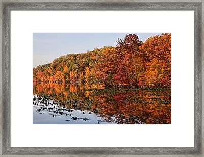 Silver Lake Reflections Framed Print by June Marie Sobrito
