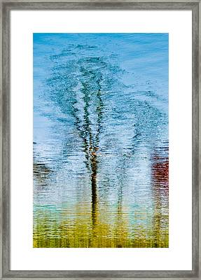 Silver Lake Tree Reflection Framed Print