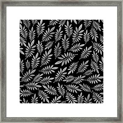 Silver Leaf Pattern 2 Framed Print by Stanley Wong