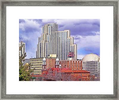 Silver Legacy And Skyline - Reno, Nevada Framed Print by Steve Ellison