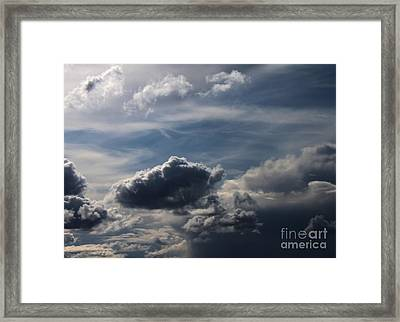 Framed Print featuring the photograph Silver Lining by Erica Hanel
