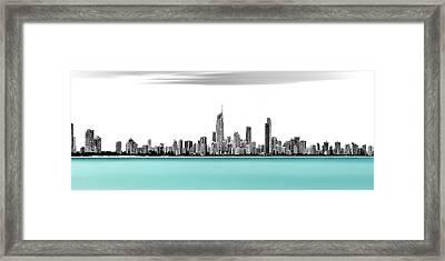 Silver Linings Panorama Framed Print