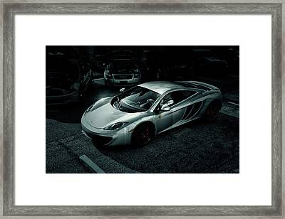 Framed Print featuring the photograph Silver Mclaren by Joel Witmeyer