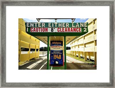 Silver Moon Drive Inn Framed Print