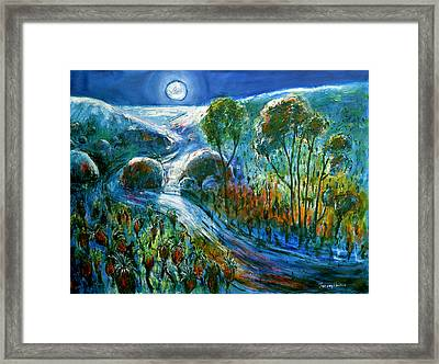 Silver Moon Framed Print by Jeremy Holton