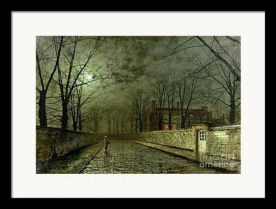 Country Road. Rural Framed Prints