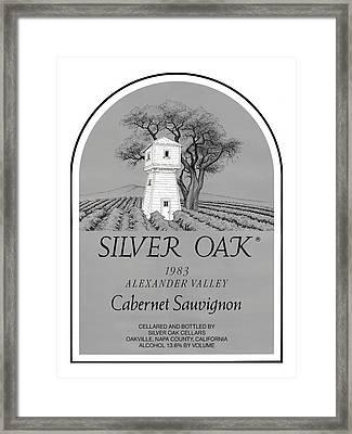 Silver Oak Wine  Framed Print by David Davis