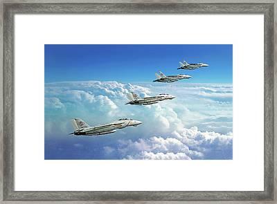 Silver On Blue Framed Print by Dorian Dogaru