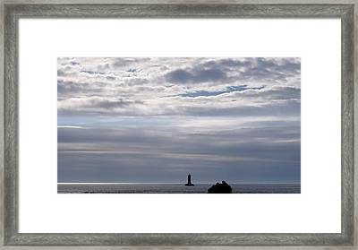 Silver On The Sea Framed Print by Menega Sabidussi