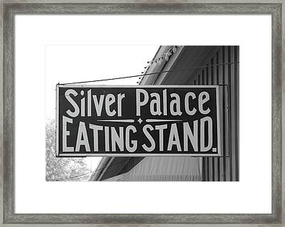 Silver Palace Eating Stand Sacramento Ca Framed Print by Troy Montemayor