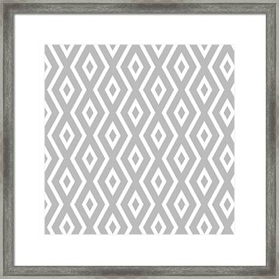 Framed Print featuring the mixed media Silver Pattern by Christina Rollo