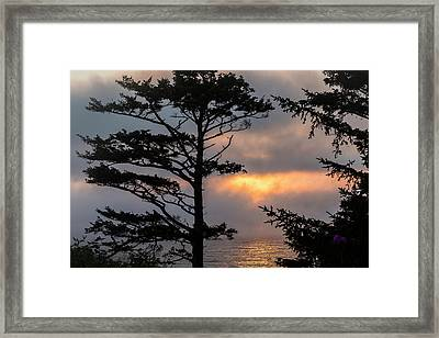 Silver Point Silhouette Framed Print