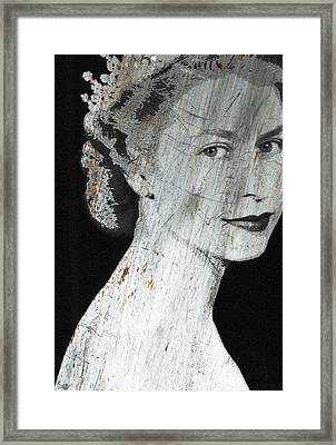 Silver Queen Elizabeth  Framed Print by Tony Rubino