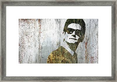 Silver Roy Orbison Framed Print by Tony Rubino