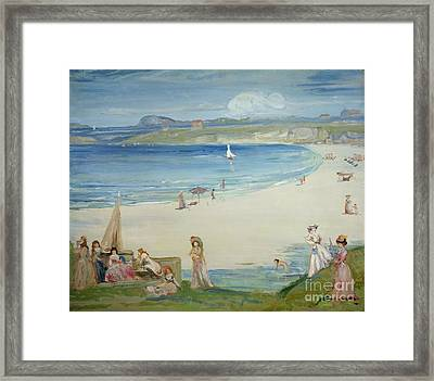 Silver Sands Framed Print by Charles Edward Conder