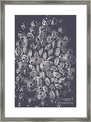 Silver Saucers From Outer Space Framed Print