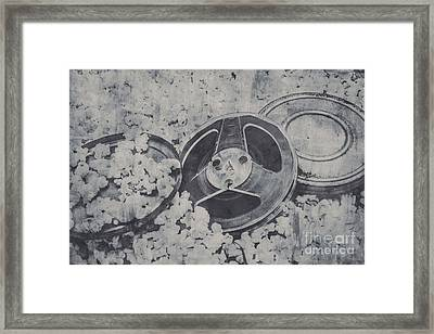 Silver Screen Film Noir Framed Print