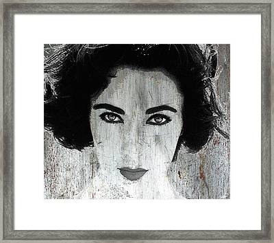 Silver Screen Liz Taylor Framed Print by Tony Rubino