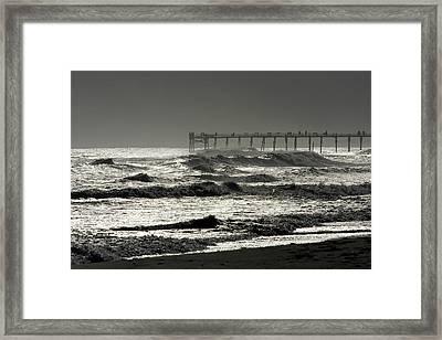 Silver Sea 1 Framed Print by Alan Hausenflock