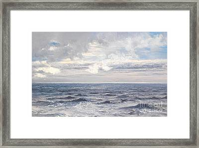 Silver Sea Framed Print