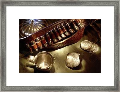 Silver Sheriff Framed Print by Daniel Alcocer
