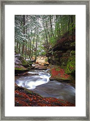 Silver Singing River Framed Print