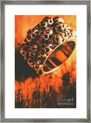 Silver Skulls Pirate Ring Framed Print by Jorgo Photography - Wall Art Gallery