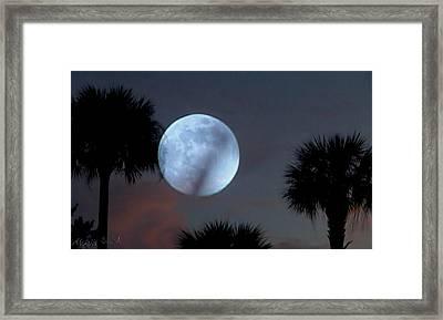 Silver Sky Ball Framed Print