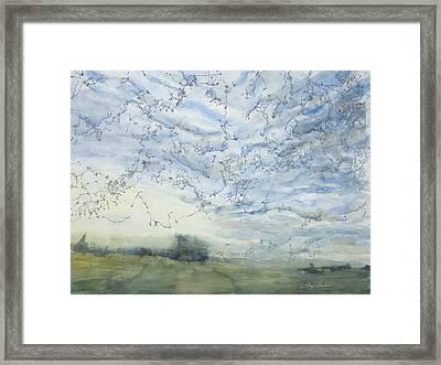 Silver Sky Framed Print