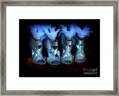Silver Slippers Framed Print