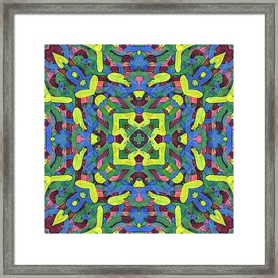 Silver Soup -pattern- Framed Print by Coded Images