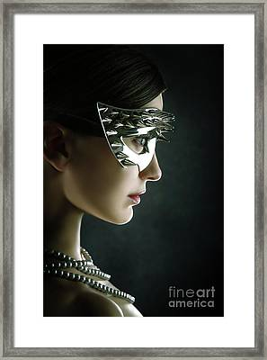 Framed Print featuring the photograph Silver Spike Beauty Mask by Dimitar Hristov