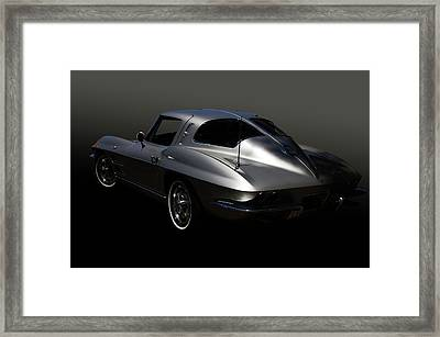 Silver Split Framed Print