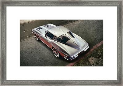 Silver Split Window Framed Print