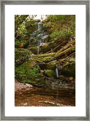 Silver Spray Falls Framed Print