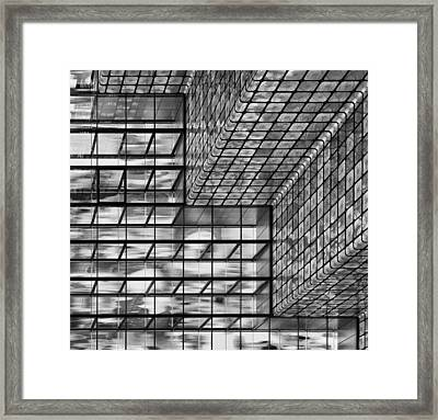 Silver Squares Framed Print by Greetje Van Son