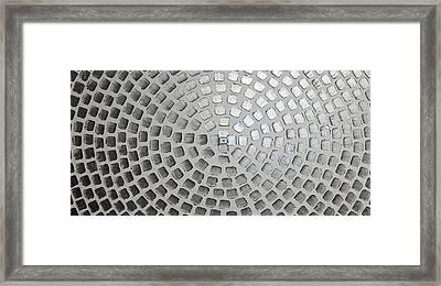 silver squares P/2 Framed Print